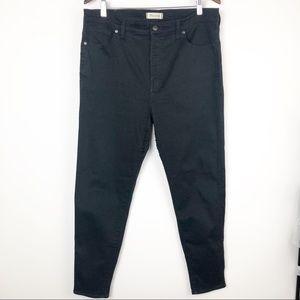 Madewell high rise skinny black pants
